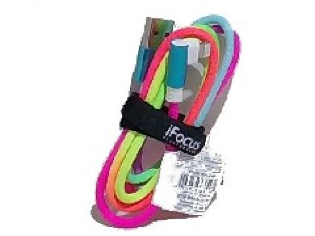 iFocus 3ft. Lightening Rainbow velcro strap