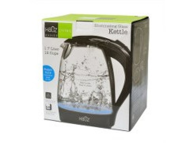 1.7 L Stainless Steel Glass Kettle