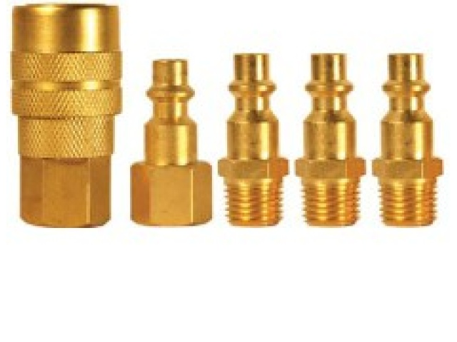 5 Pc Quick Coupler Set M TYPE